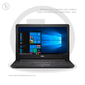 PORTATIL DELL VOSTRO 3480  CORE i3 8145U 1TB 8GB 14 PULG WIN10 PRO - DELL