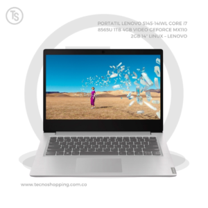 "PORTATIL LENOVO S145-14IWL CORE i7 8565U 1TB 4GB VIDEO GEFORCE MX110 2GB 14"" LINUX – LENOVO"