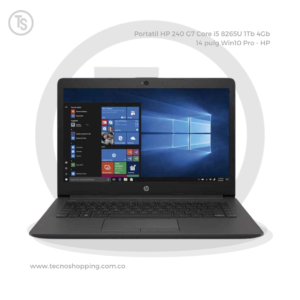 Portatil HP 240 G7 Core i5 8265U 1Tb 4Gb 14 pulg Win10 Pro - HP