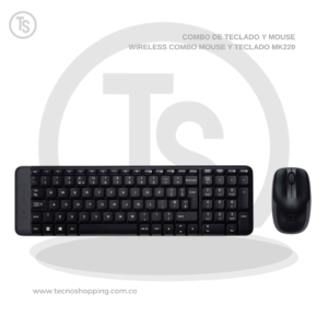 TECLADO Y MOUSE WIRELESS COMBO MOUSE Y TECLADO MK220