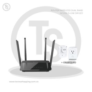 ROUTER WIRELESS DUAL BAND AC1200 D-LINK DIR-822