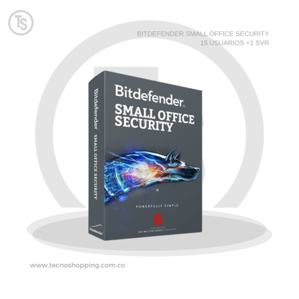 BITDEFENDER SMALL OFFICE SECURITY 15 USUARIOS +1 SVR
