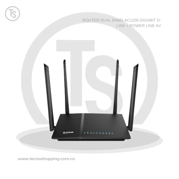 ROUTER DUAL BAND AC1200 GIGABIT D-LINK + POWER LINE AV