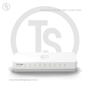 SWITCH 8 PTOS DES-1008C D-LINK 10/100